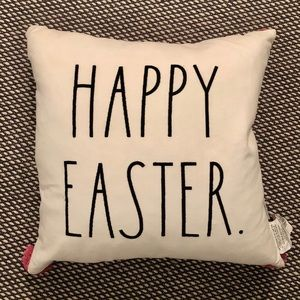 New! Rae Dunn Happy Easter Feather Pillow